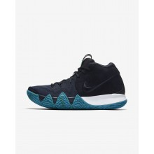 610EAYZB Nike Kyrie 4 Basketball Shoes For Men Dark Obsidian/Black
