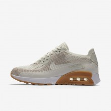 612DMLZX Nike Air Max 90 Lifestyle Shoes For Women Sail/Sand/Gum Yellow/White