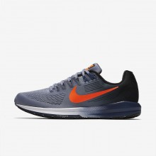 612LQJIF Nike Air Zoom Running Shoes For Men Dark Sky Blue/Black/Navy/Total Crimson