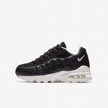 612RKCLJ Nike Air Max 95 Lifestyle Shoes For Boys Black/Summit White