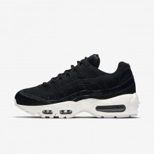 615RVTME Nike Air Max 95 Lifestyle Shoes For Women Black/Dark Grey/Sail