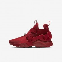 616ILJCT Nike Huarache Lifestyle Shoes For Boys Gym Red/White/Black