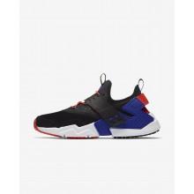 618HUSOF Nike Air Huarache Lifestyle Shoes For Men Black/Rush Orange/Lagoon Pulse/Rush Violet