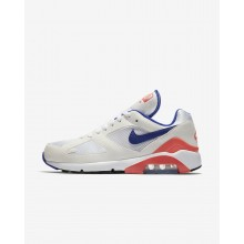620XYTCL Nike Air Max 180 Lifestyle Shoes For Men White/Solar Red/Ultramarine