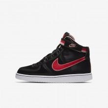 629ISVEB Zapatillas Casual Nike Vandal High Supreme QS Niña Negras/Coral/Blancas/Rojas