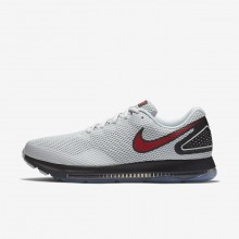 641BKYGJ Nike Zoom All Out Running Shoes For Men Pure Platinum/Black/University Red