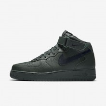 643ZBGAK Nike Air Force 1 Lifestyle Shoes For Men Grove Green/Black