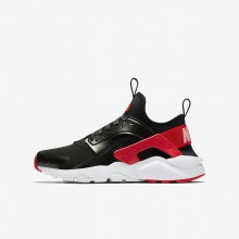 659YXKER Nike Air Huarache Lifestyle Shoes For Girls Black/Bleached Coral/Speed Red