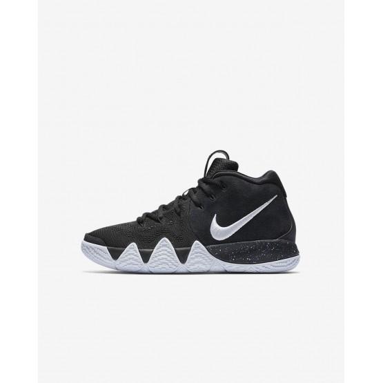 660XHQBT Poikien Koripallokengät Nike Kyrie 4 Mustat/VaaleanSininen/Valkoinen