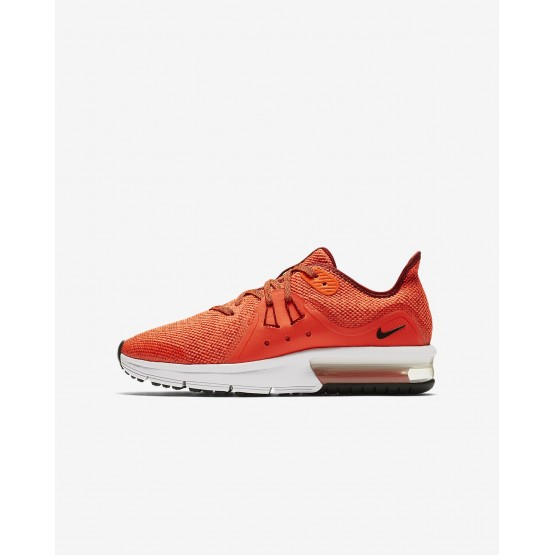 681EPSIN Nike Air Max Sequent Running Shoes For Boys Team Red/Total Crimson/White/Black
