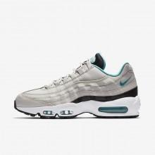 681NBRQJ Nike Air Max 95 Lifestyle Shoes For Men Light Bone/Black/White/Sport Turquoise
