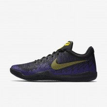 686XGIFR Nike Mamba Rage Basketball Shoes For Men Black/Court Purple/Tour Yellow