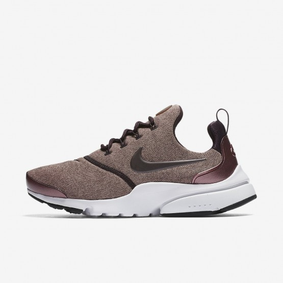 696BLJQX Nike Presto Fly Lifestyle Shoes For Women Port Wine/Particle Pink/Black/Metallic Mahogany