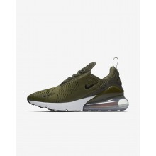 701OIXJN Nike Air Max 270 Lifestyle Shoes For Men Medium Olive/Total Orange/White/Black