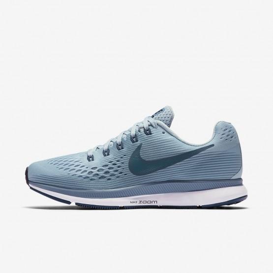 702HTDLW Nike Air Zoom Koşu Ayakkabısı Bayan Siyah/Mavi