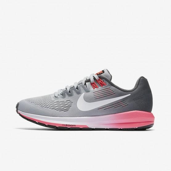 716PIEYT Nike Air Zoom Running Shoes For Women Dark Grey/Wolf Grey/Hot Punch/White