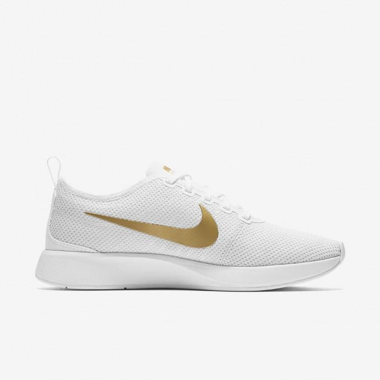 zapatillas nike mujer blancas y doradas