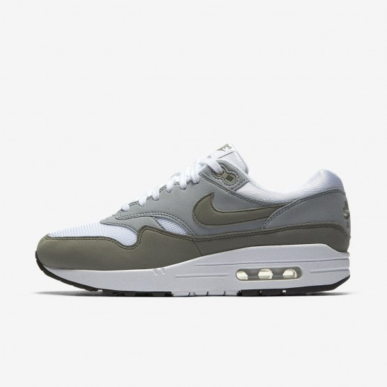 740FDJLO Nike Air Max 1 Lifestyle Shoes For Women White/Light Pumice/Black/Dark Stucco