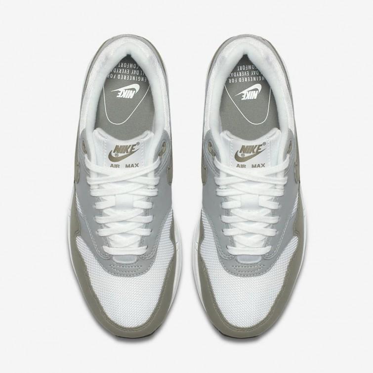 nike air max 1 hvit blå grå
