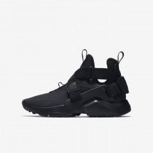 751FSQDV Nike Huarache Lifestyle Shoes For Boys Black/White