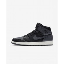 757UGVFM Air Jordan 1 Lifestyle Shoes For Men Black/Summit White/Dark Grey
