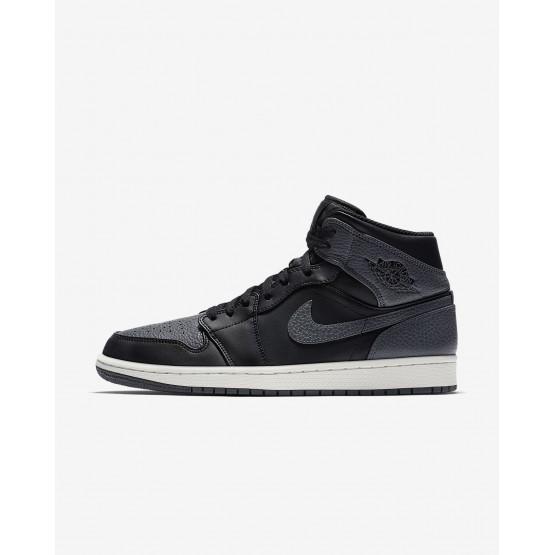 757UGVFM Air Jordan 1 Lifestyle Shoes For Men Black/Summit White/Dark Grey