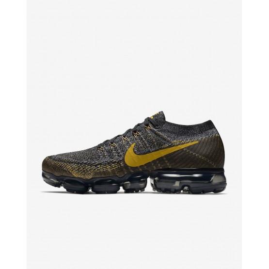 766JDZMC Nike Air VaporMax Koşu Ayakkabısı Erkek Siyah/Koyu Gri/Gold