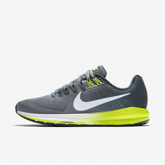 776HDEGV Nike Air Zoom Running Shoes For Men Cool Grey/Anthracite/Volt/White