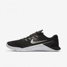 780ANWBM Nike Metcon 4 Treningssko Dame Svart/Hvite/Metal Sølv