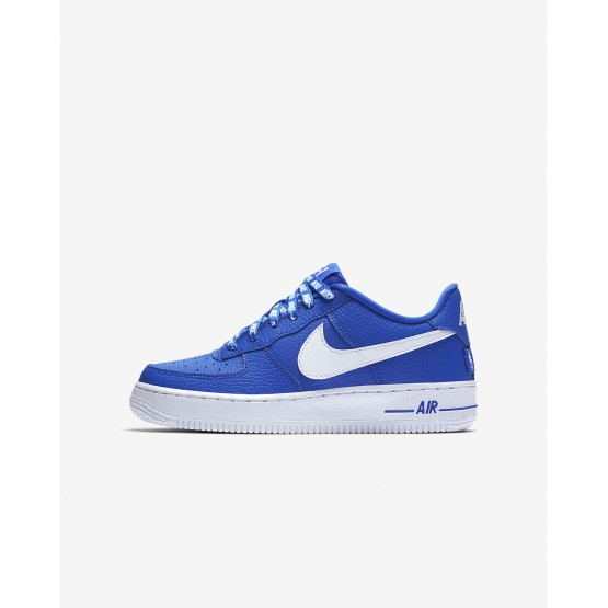 786XHCOB Nike Air Force 1 Lifestyle Shoes For Boys Game Royal/White