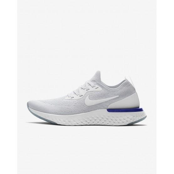 796NEKDX Nike Epic React Flyknit Koşu Ayakkabısı Bayan Beyaz/Mavi