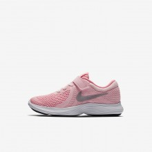 809JAZXP Nike Revolution 4 Running Shoes For Girls Arctic Punch/Sunset Pulse/White/Metallic Silver