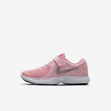809JAZXP Zapatillas Running Nike Revolution 4 Niña Blancas/Metal Plateadas