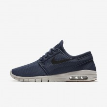 830UNYPJ Nike SB Stefan Janoski Max Skateboarding Shoes For Men Thunder Blue/Gum Medium Brown/Light Bone/Black
