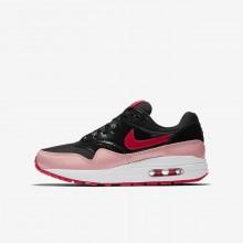 833JMLOZ Zapatillas Casual Nike Air Max 1 Niña Negras/Coral/Rojas