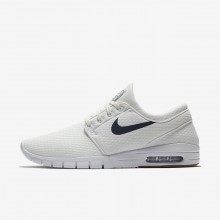 842GTYRP Nike SB Stefan Janoski Max Skateboarding Shoes For Men Summit White/Gum Medium Brown/White/Thunder Blue