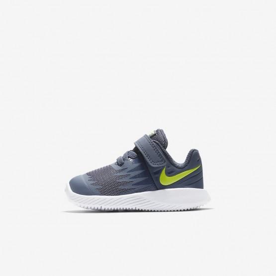 842ZHYUQ Zapatillas Running Nike Star Runner Niña Azules/Blancas/Obsidian