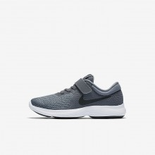 845UBVQS Nike Revolution 4 Running Shoes For Girls Dark Grey/Cool Grey/White/Black