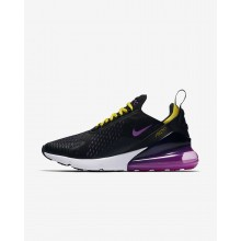 852FPSXY Nike Air Max 270 Lifestyle Shoes For Men Black/Hyper Grape/Tour Yellow/Hyper Magenta