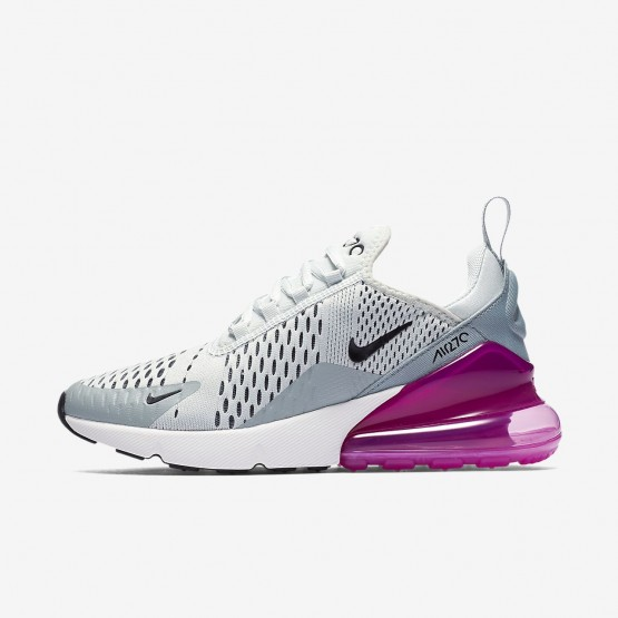 854ZGQLK Nike Air Max 270 Lifestyle Shoes For Women Barely Grey/Light Pumice/Fuchsia Blast/Black