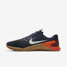 861MJESR Nike Metcon 4 Training Shoes For Men Thunder Blue/Black/Hyper Crimson/White