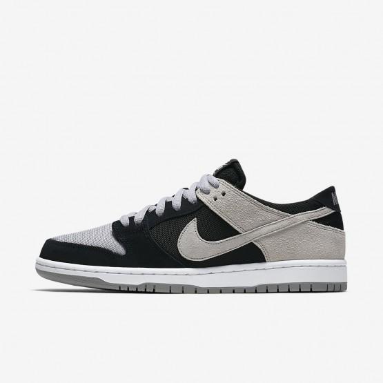869QETLX Nike SB Dunk Skateboarding Shoes For Men Black/White/Wolf Grey