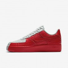 871YORNF Nike Air Force 1 Lifestyle Shoes For Men Barely Grey/Habanero Red
