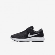890CERMF Nike Revolution 4 Running Shoes For Girls Black/Anthracite/White