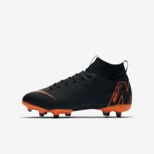 891VLYAQ Nike Jr. Superfly VI Fotballsko Gutt Svart/Hvite/Oransje