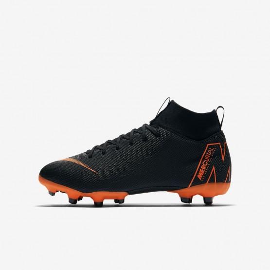 891VLYAQ Nike Jr. Superfly VI Soccer Cleats For Boys Black/White/Total Orange