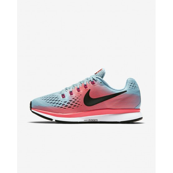 896MJTBZ Nike Air Zoom Running Shoes For Women Racer Pink/Mica Blue/Sport Fuchsia/White