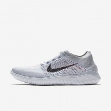 902KUNEC Nike Free RN Running Shoes For Men Pure Platinum/White/Wolf Grey/Black