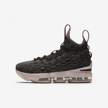 908OGTKQ Nike LeBron 15 Basketball Shoes For Boys Black/Team Red/Metallic Gold