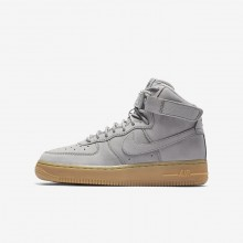 912ZNUCQ Nike Air Force 1 Lifestyle Shoes For Boys Medium Grey/Black/Gum Light Brown